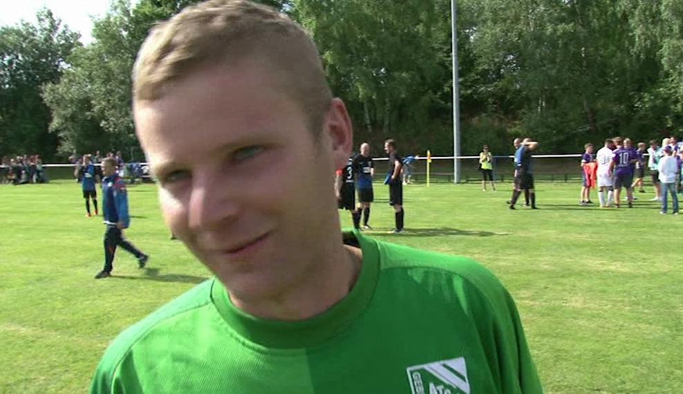 Sebastian Walther stand recht gut im Tor gegen den FC Erzgebirge